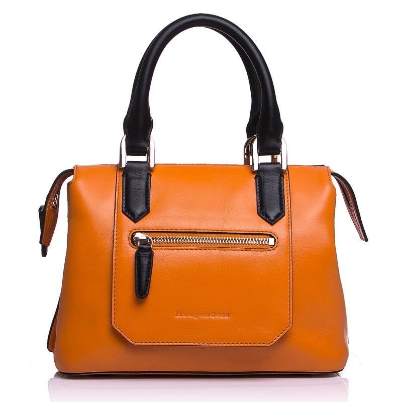 European and American fashion handbags shoulder header layer cowhide leather shopping bag hit the co