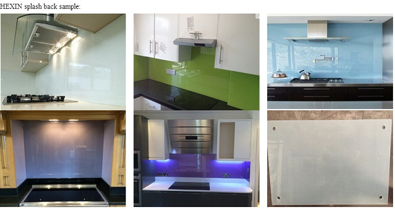 the CE SGCC ANSI certification of colored toughened glass kitchen splashback