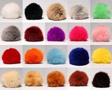 colorful rabbit fur pom pon
