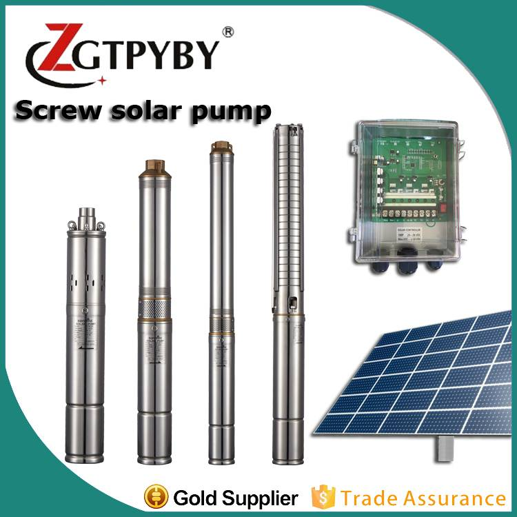 100m head solar submersible water dc pump solar well pump 100m for deep well