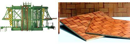 Bamboo mat board making weaving laminating machine manufacturing production line plant
