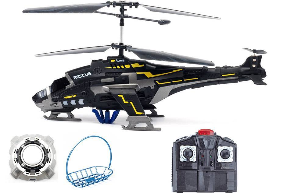 3.5CH R/C Rescue Helicopter Vs UFO, with Sound, Light