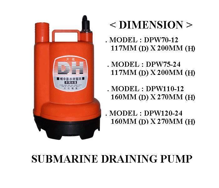 Submarine draining pump