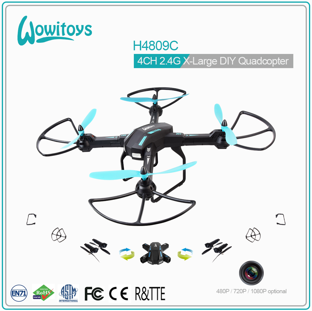 2.4G Large DIY Quadcopter with HD servo camera, FPV, GPS (480P, 720P and 1080P optional)