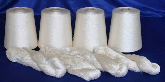 60nm/2, 120nm/2, 140nm/2, 210nm/2 100% Spun Silk Yarn