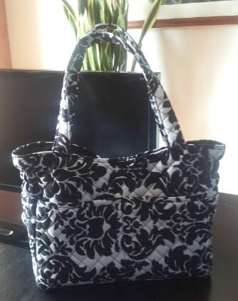 quilted tote/bag
