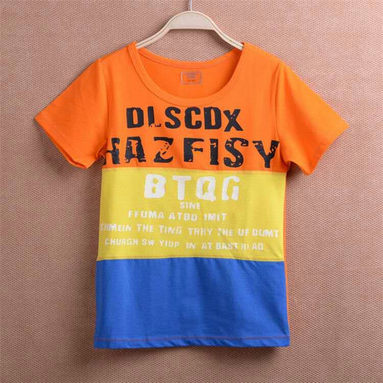 Child cotton T-shirt with short sleeve