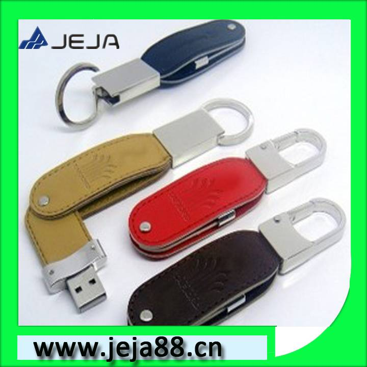 leather usb flash memory disk