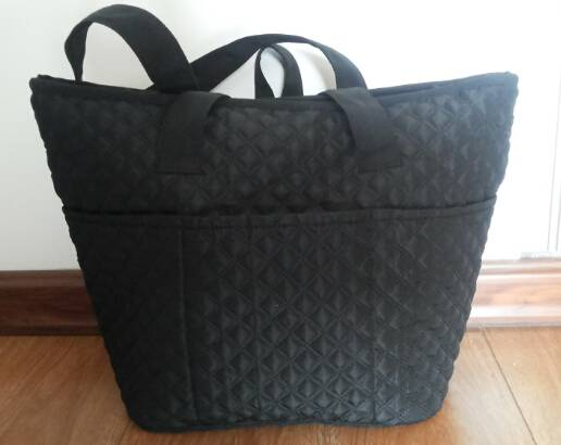 quilted shopping tote bag