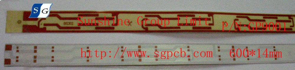 LED ultra-thin rigid light strip(white ink board)/ P/N:SG-PCB-GP9001