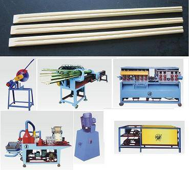 Wood bamboo chopsticks making packing machine manufacturing line