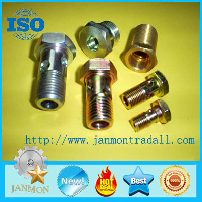SELL Yellow Zinc Plated Hex Head Bolt With Hole (as drawing)