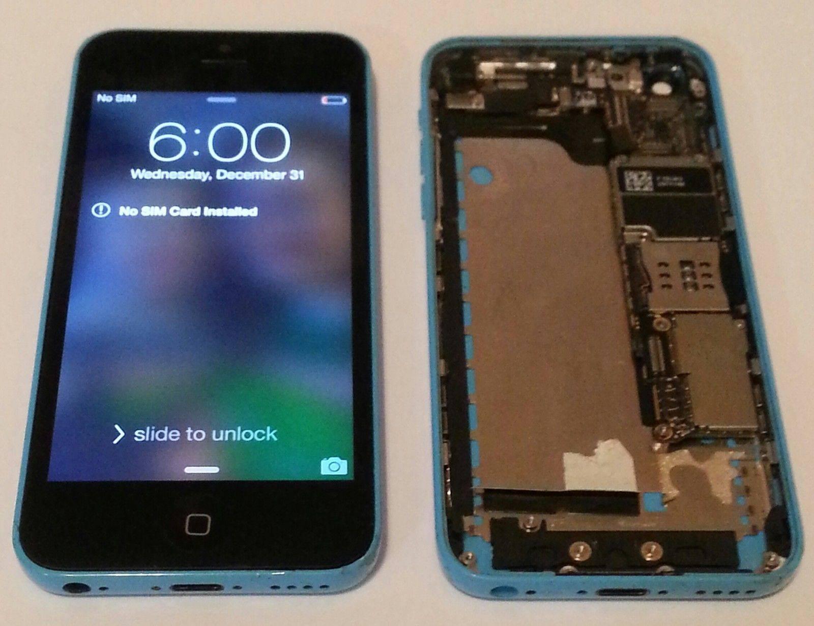USED HALF PHONE PWR ON IP 5C MISSIN LCD