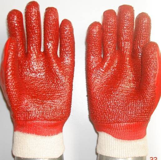 Sell PVC coated/dipped glove heavy duty terry Toweling liner