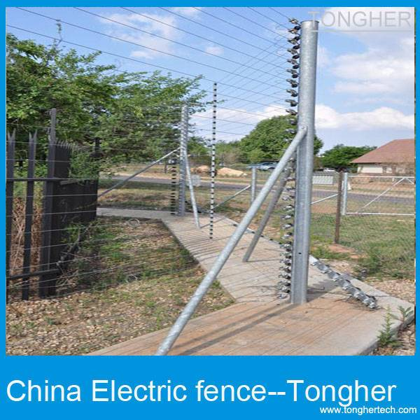 Building construction security electric fencing system