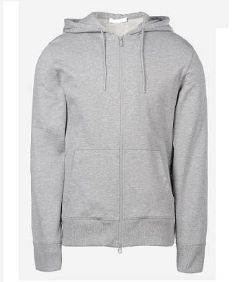 Mens fleece hoodie with full zipper