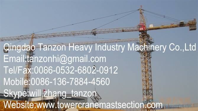 Steel Fixed Tower Crane 6 ton For construction tower crane,crane manufacturer,crane supplier