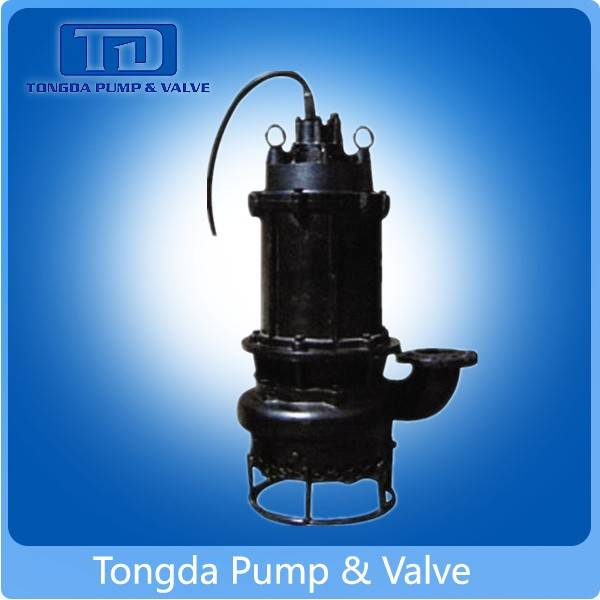 Non-clog electric high chrome centrifugal submersible sewage pump