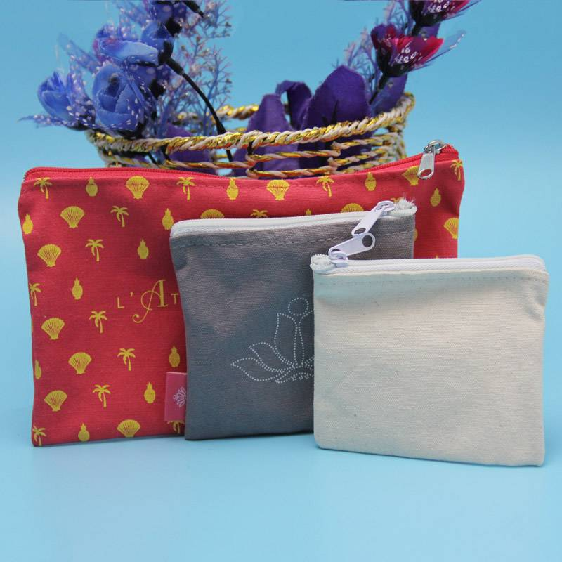 wholesale small canvas zipper pouch