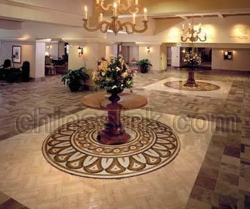 stone art mosaic lobby project