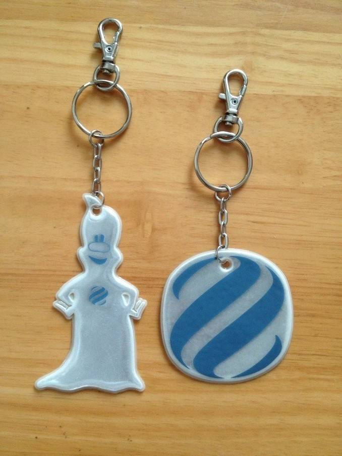 soft pvc safety reflective keychain