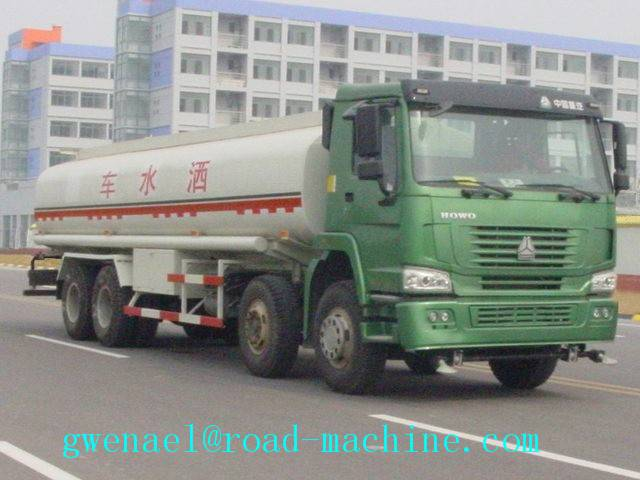 Oil Tanker Truck 8x4 38000L with 400L Fuel Tank , 380 Horsepower, Energy-Saving, ZZ5307M3267P