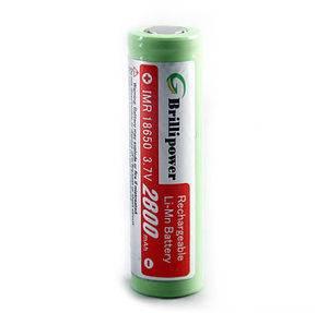 Brillipower IMR18650 Batteries 2800mAh Li-Mn Rechargeable Batteries