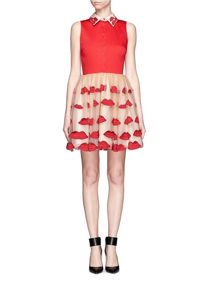 Elegant print lace prom dress bardot neck midi evening dresses