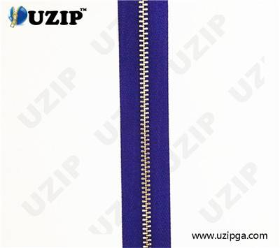 brass plated aluminium zippers