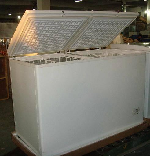 Double top opening door freezer refrigerator