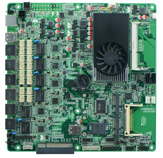Intel C1037U Based Firewall Motherboard for Network Security Application 6Nic 2 SFP Option ByPass