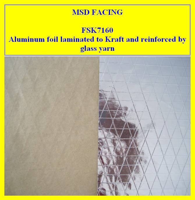 manufacturer of Aluminum Foil Laminated to Kraft Paper Reinforced by Triaxial Scrim for Air Duct (FS