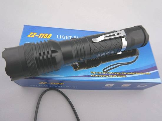 1158 Multifunctional Self-defense Flashlight Torch High-power Impact