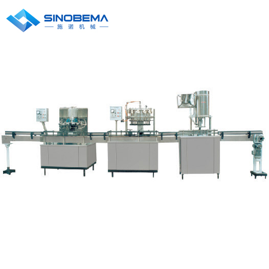linear model bottle washing filling capping machine, 200ml to 2000ml
