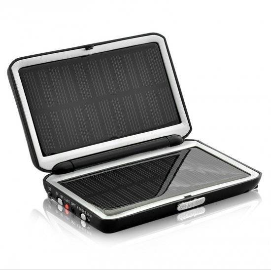 Compact 2000 Mah Solar Charger and Battery