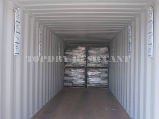 Desiccant Against Condensation in Shipping Container