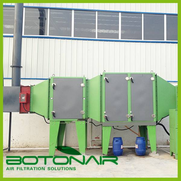 Drying machine smoke removing system for used PVC gloves factory/mills