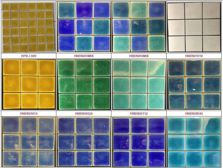 48x48mm Crackled glazed tiles for swimming pool