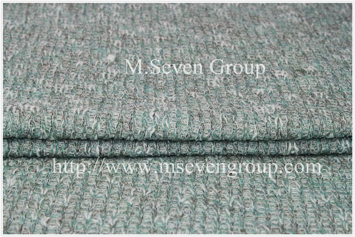New knitting polyester acrylic braid wool fabric,Polyester blend wool fabric for autumn winter garm
