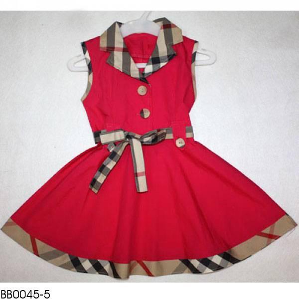 Provide wholesale price Burber girl's dress