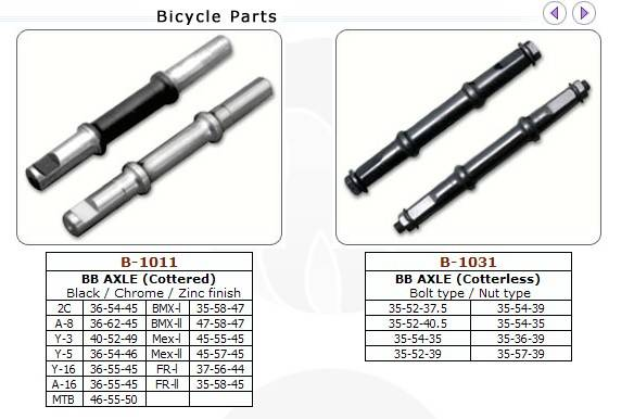 Bicycle b.b axle/bicycle parts/bicycle B.B cups