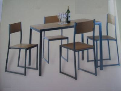 Best Selling MDF And Aluminium Table /chair Set Model1509