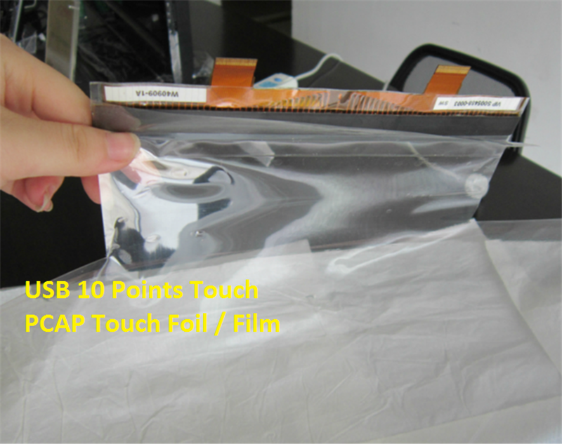 USB interface 65 inch capcitive pacp touch foil touch film touch screen for monitor and kiosk