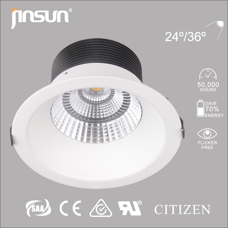 hot sale high quality round housing good heat dissipation led ceiling downlight COB led