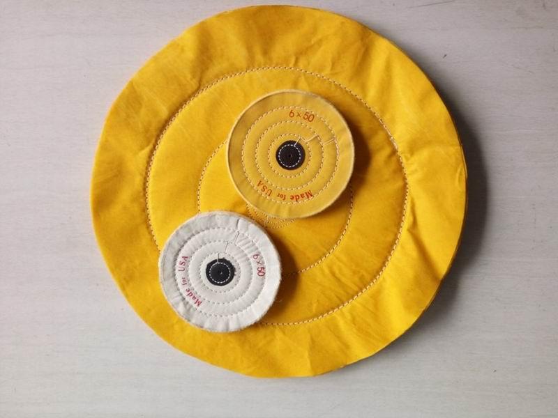 yellow cotton buffing cloth wheel
