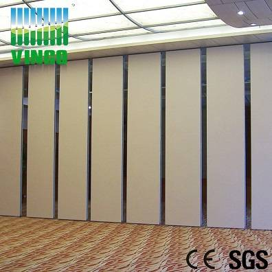 fabric covered folding partition wall office partition with aluminium alloy