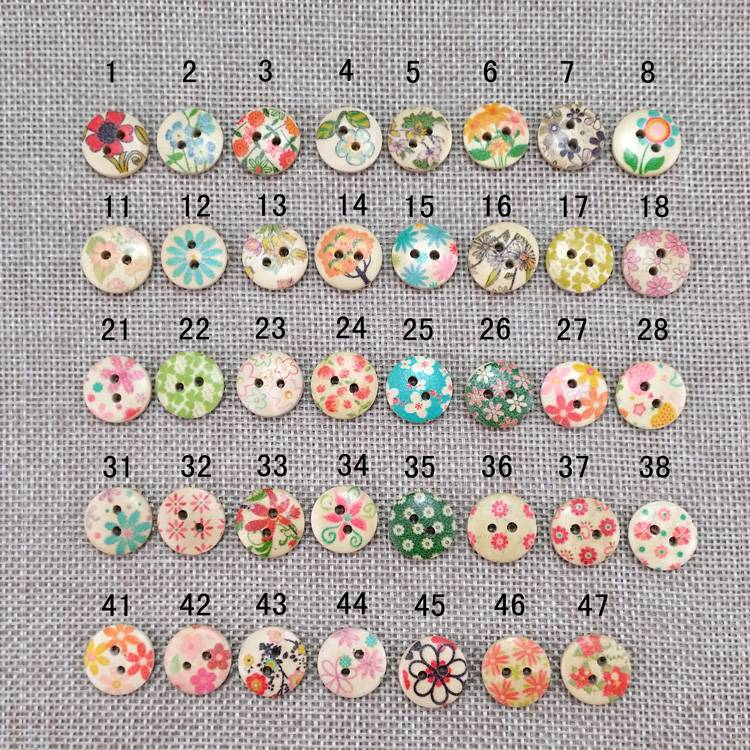 print cute wooden button craft sewing button