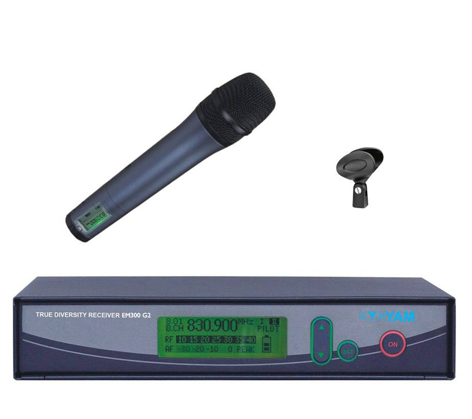 Yam Em300 G2 Wireless Microphone UHF Wireless System for Stage