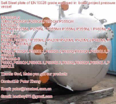 Sell :Spec EN10028-2 steel plate,Grade,16Mo3,P235GH,P265GH,P295GH,P355GH/steel plate/sheets