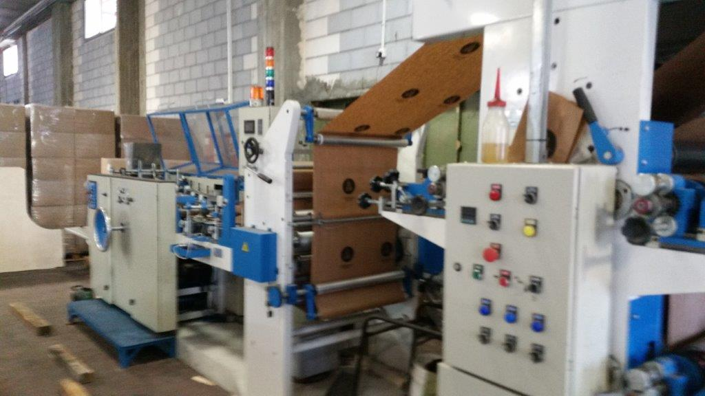 SOS bag making machine with 3-color in-line print